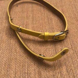 Origami Owl Yellow Leather Wrap Bracelet